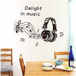 樂宅 - 音符耳機牆貼