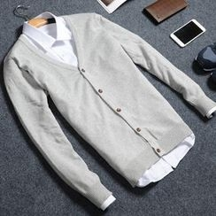 Jazz Boy - Long-Sleeve Plain Knit Cardigan