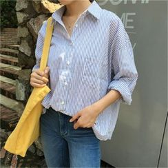 Visbee - Loose-Fit Striped Shirt