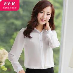 Eferu - 長袖雪紡襯衫