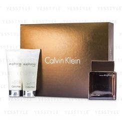 Calvin Klein 卡爾文克來恩 - Euphoria Intense Coffret: Eau De Toilette Spray 100ml/3.4oz + After Shave Balm 100ml/3.4oz + Body Wash Gel 100ml/3.4oz