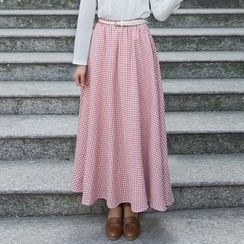 GU ZHI - Plaid Maxi Skirt