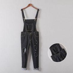Gatz - Distressed Cropped Jumper Jeans