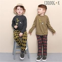 WALTON kids - Kids Set: Printed Top + Patterned Baggy-Fit Pants