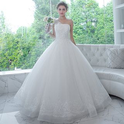MSSBridal - One Shoulder Wedding Ball Gown
