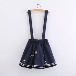 TOJI - Embroidered Jumper Skirt