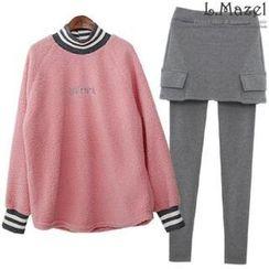 L.MAZEL - Set: Top + Inset Skirt Leggings (2 Designs)