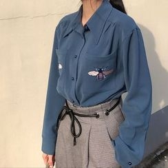 Octavia - Embroidered Long-Sleeve Shirt