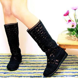 Shoes Galore - Crochet Long Boots