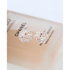 Miss21 Korea - Beaded Stud Earrings
