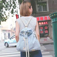 I.O.U - Denim Drawstring Backpack