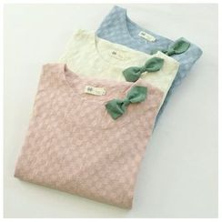 蘭芝 - 蝴蝶結飾長袖上衣