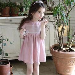 Cuckoo - Kids Short-Sleeve Pleated Dress