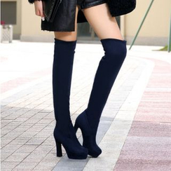 Shoes Galore - High Heel Over-the-Knee Boots