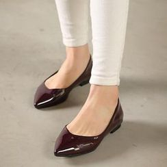 VIVIER - Pointy-Toe Patent Flats