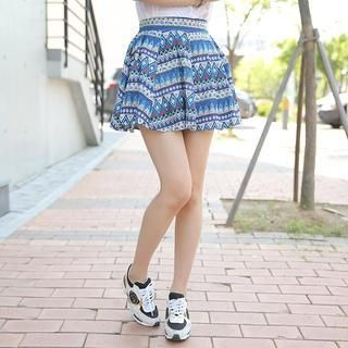 Envy Look - Patterned A-Line Mini Skirt