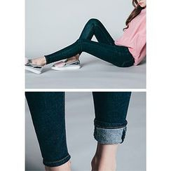 Chlo.D.Manon - Brushed-Fleece Lined Skinny Jeans