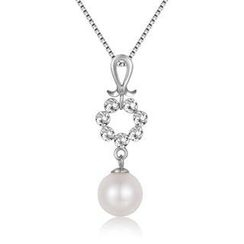 MaBelle - 《Guardian Angel》14K/585 White Gold Pearl Necklace