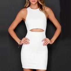 LIVA GIRL - Cut Out Front Sleeveless Mini Dress