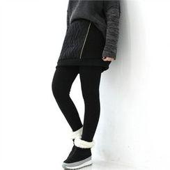 GLAM12 - Inset Padded Skirt Leggings