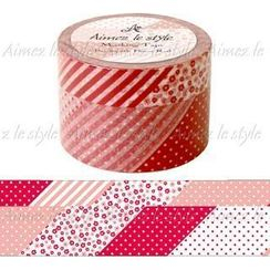 Aimez le style - Aimez le style Masking Tape Wide Patchwork Flower Red