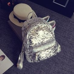 Secret Garden - Sequined Faux Leather Backpack