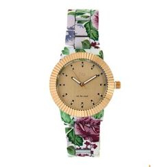 N:U - Not the Usual - Gold and Floral Watch