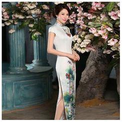 Janelle Qipao - 蓋袖印花旗袍