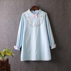 藍玫瑰衣坊 - 長袖刺繡襯衫