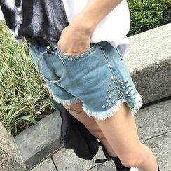 CosmoCorner - Distressed Denim Shorts