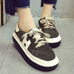 Limone - Suede Panel Sneakers