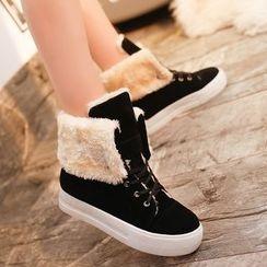 COUSO - Platform Lace Up Snow Boots