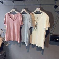 芷蓯夕 - V領短袖T恤