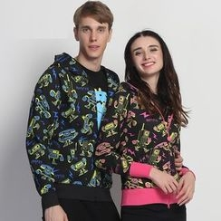 HappyTee - Printed Couple Hoodie