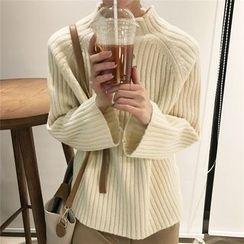 ALIN STYLE - Mock Neck Sweater