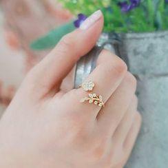 Glamiz - 水鑽開口戒指