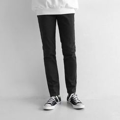 Seoul Homme - Pocket-Front Straight-Cut Pants