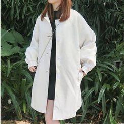 Windflower - Plain Buttoned Coat