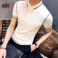SIRIUS - Short-Sleeve Stitching Polo Shirt