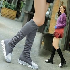 Yoflap - Panel Ruched Tall Boots