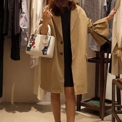 FancyMe - 純色寬鬆風衣