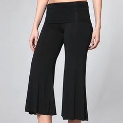 Almaz.C Active - Wide-Leg Cropped Yoga Pants