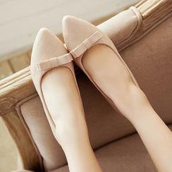 Pastel Pairs - Bow Low Block Heels