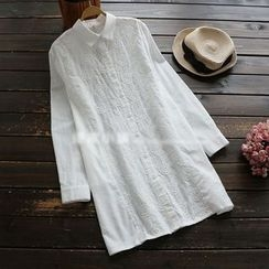YOYO - Embroidery Long Blouse