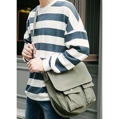 JOGUNSHOP - Flap Cotton Messenger Bag