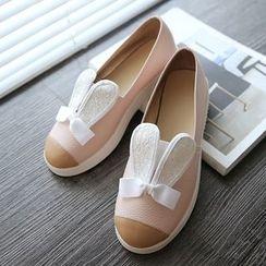Kireina - Rabbit Accent Slip-On Sneakers