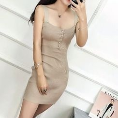 Silkfold - Sleeveless Knit Sheath Dress