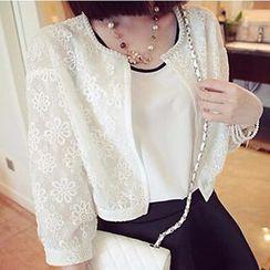 Lacyland - Embellished Lace Jacket