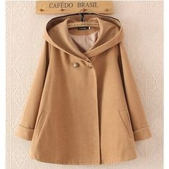 Citree - Double-breasted Knit Cape Jacket