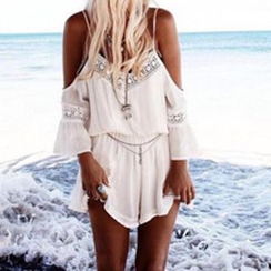 Ufer - Lace Trim Playsuit